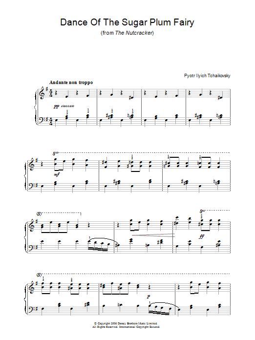 Dance Of The Sugar Plum Fairy (Piano Solo)