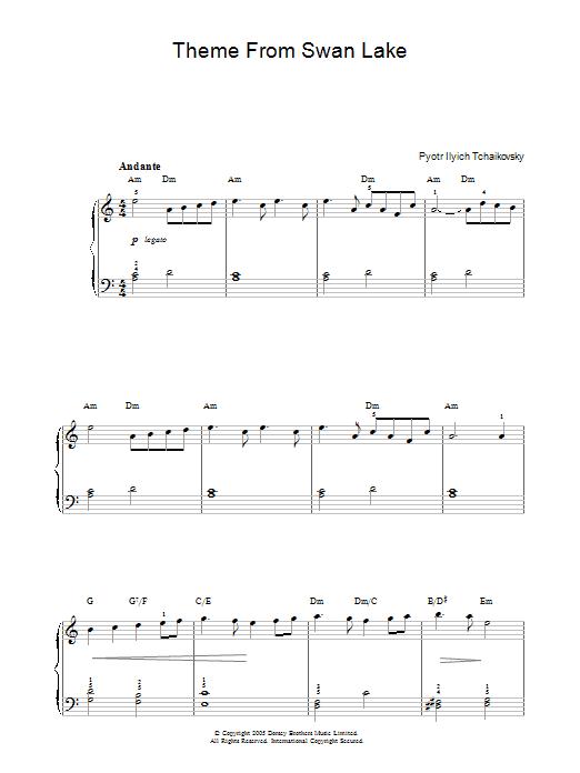 Swan Lake, Op. 20 (Theme) (Piano Solo)