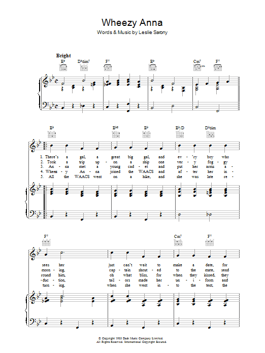 Wheezy Anna Sheet Music