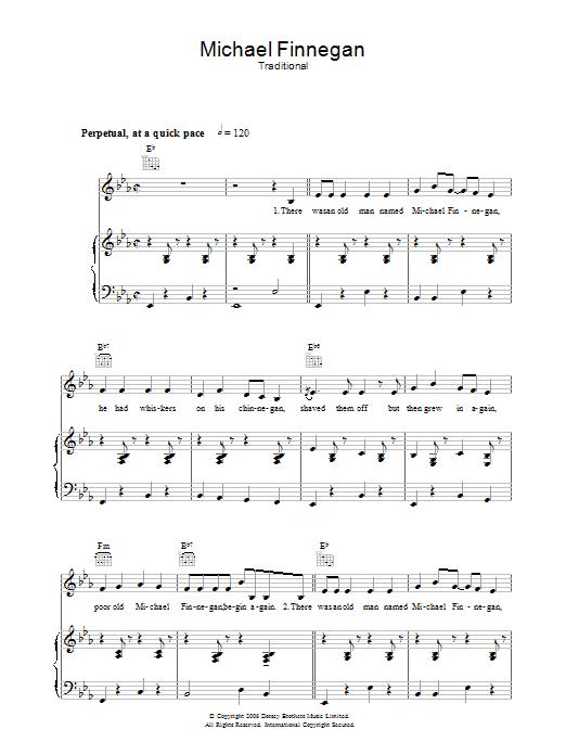 Michael Finnegan (Piano, Vocal & Guitar)