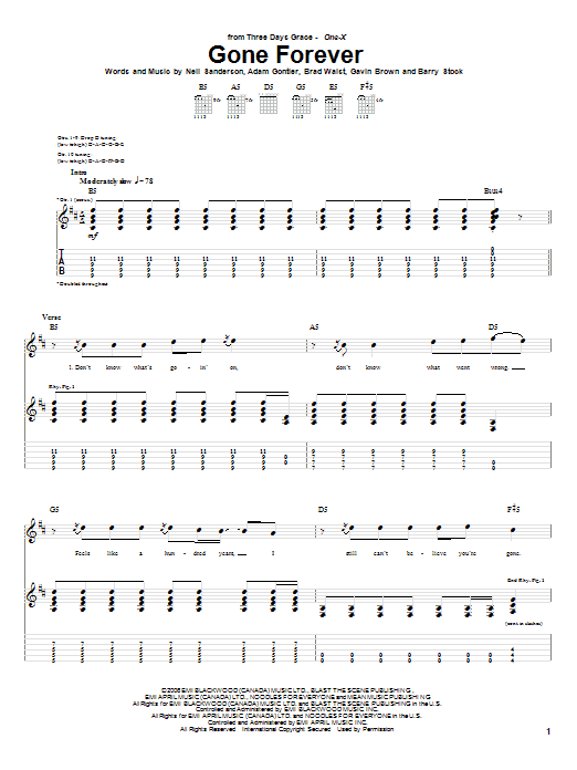 Gone Forever (Guitar Tab)