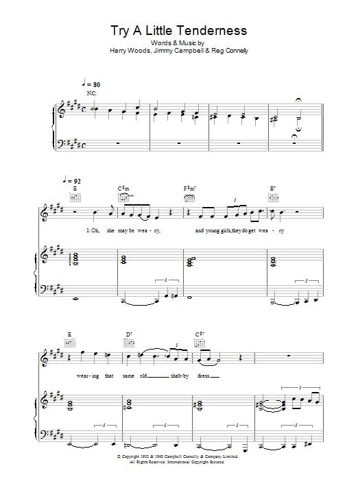Try A Little Tenderness Sheet Music
