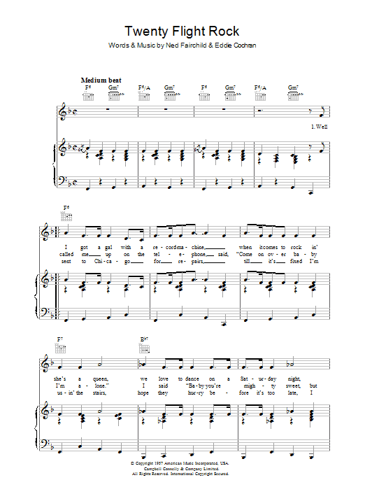 Twenty Flight Rock Sheet Music