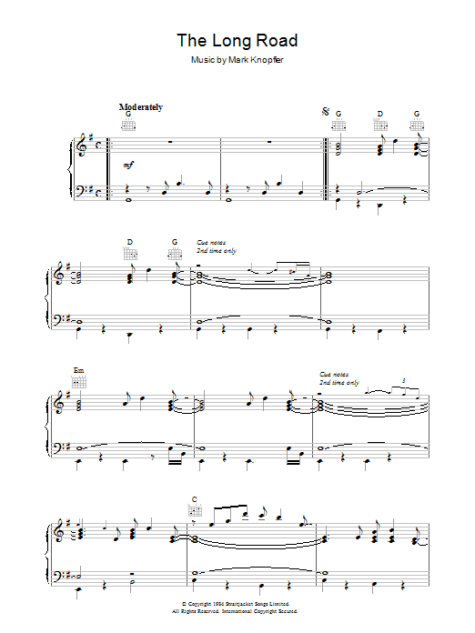 The Long Road (from Cal) Sheet Music