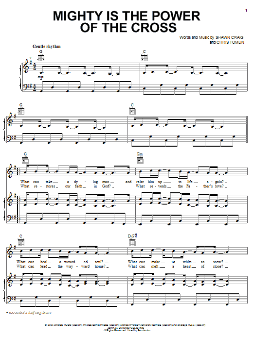 Mighty Is The Power Of The Cross (Piano, Vocal & Guitar (Right-Hand Melody))