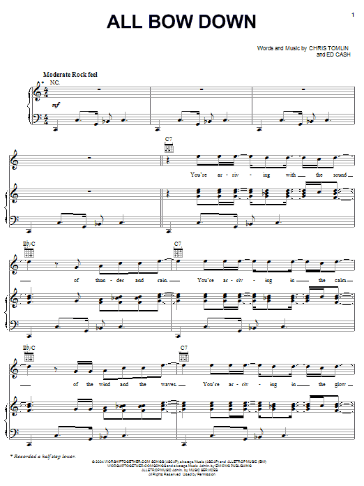 All Bow Down (Piano, Vocal & Guitar (Right-Hand Melody))