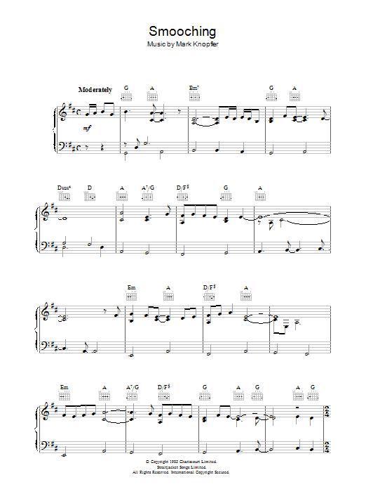 Smooching (from Local Hero) Sheet Music