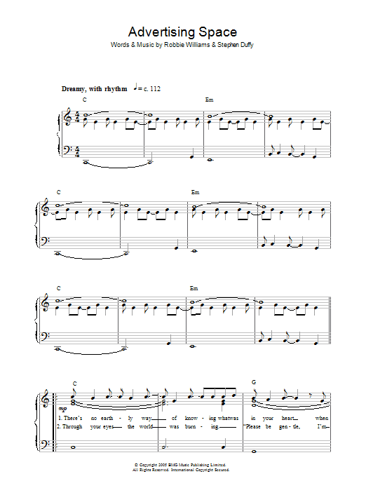 Advertising Space | Sheet Music Direct