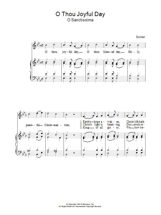 O Thou Joyful Day Sheet Music