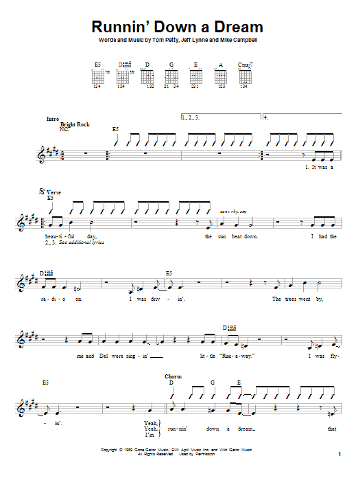 Runnin' Down A Dream Sheet Music