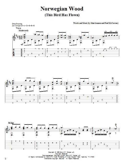 Norwegian Wood (This Bird Has Flown) Guitar Tab by The Beatles (Guitar Tab u2013 82608)