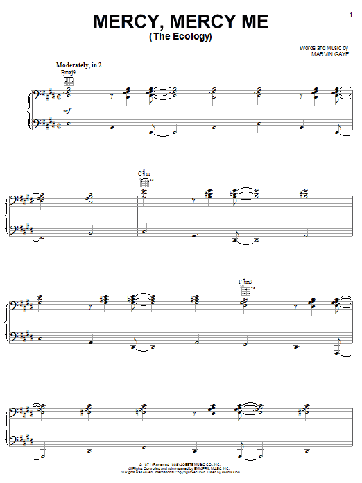 Mercy, Mercy Me (The Ecology) Sheet Music