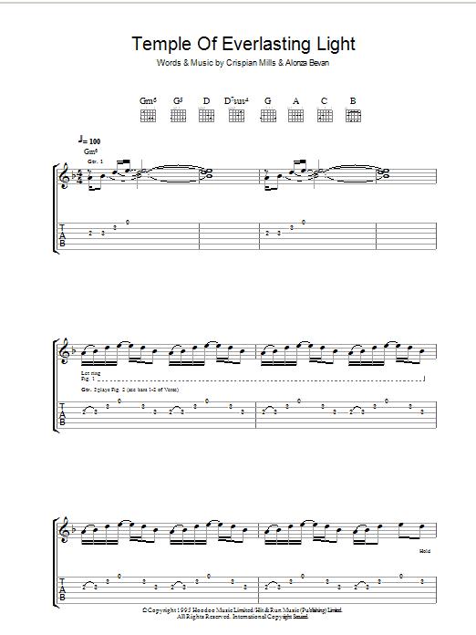 Temple Of Everlasting Light (Guitar Tab)