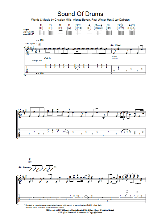 Sound Of Drums Sheet Music