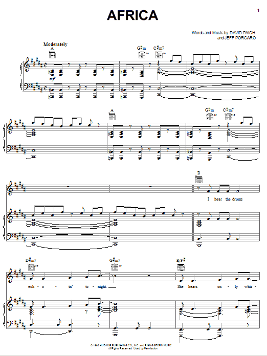 Sheet Music Digital Files To Print - Licensed Toto Digital