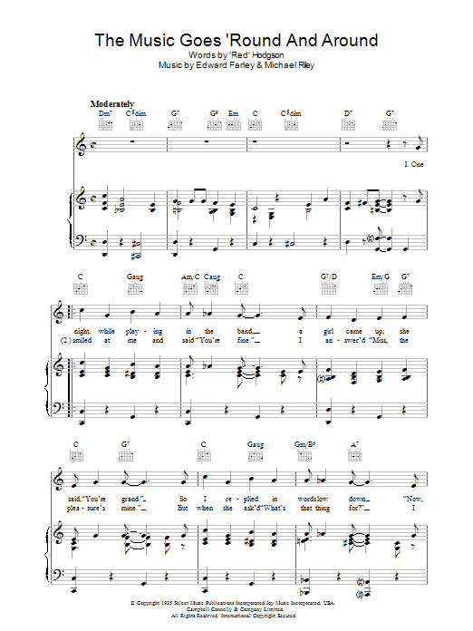 The Music Goes Round And Around (Piano, Vocal & Guitar)