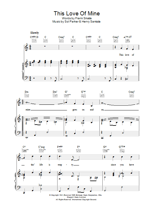This Love Of Mine Sheet Music