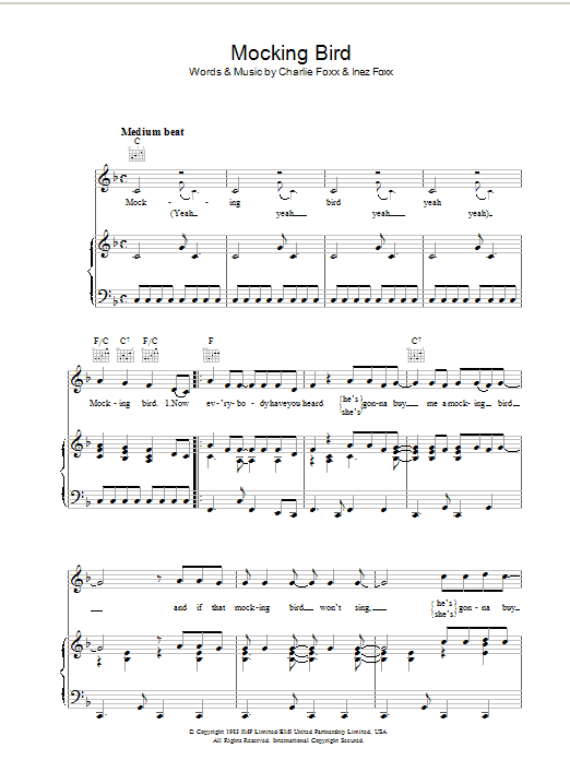 Mocking Bird Sheet Music