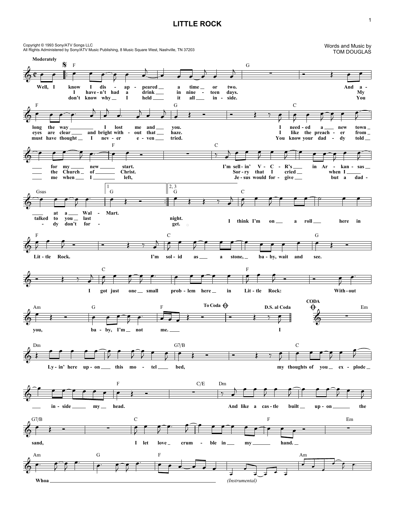Little Rock (Lead Sheet / Fake Book)