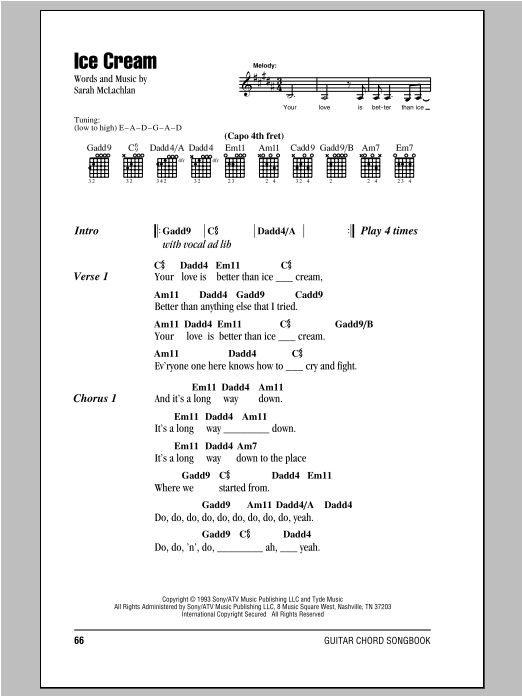 Ice Cream Sheet Music