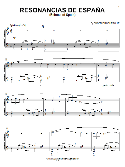 Resonancias De Espana (Echoes Of Spain) Sheet Music