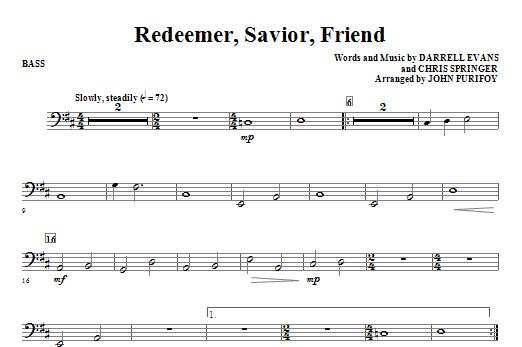 Redeemer, Savior, Friend - String Bass (Choir Instrumental Pak)