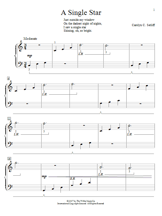 A Single Star Sheet Music