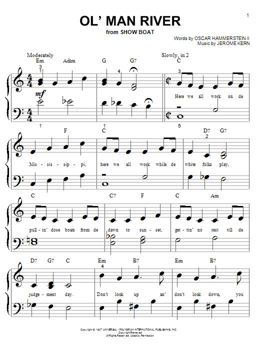 Partition piano Ol' Man River de Jerome Kern - Autre