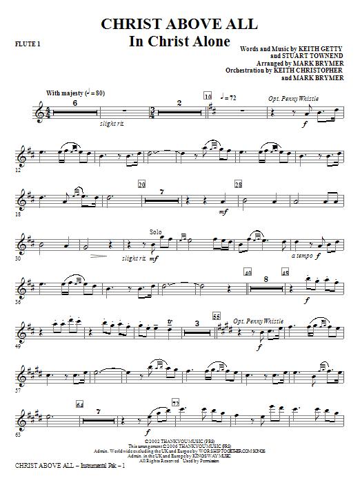 Christ Above All - Flute 1 Sheet Music