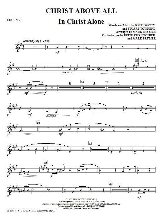 Christ Above All - F Horn 3 Sheet Music