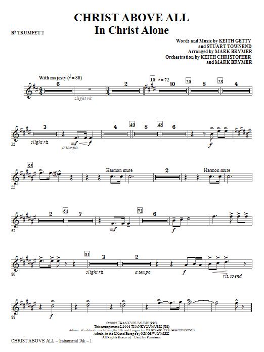 Christ Above All - Bb Trumpet 2 Sheet Music