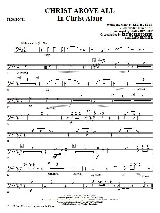 Christ Above All - Trombone 2 Sheet Music