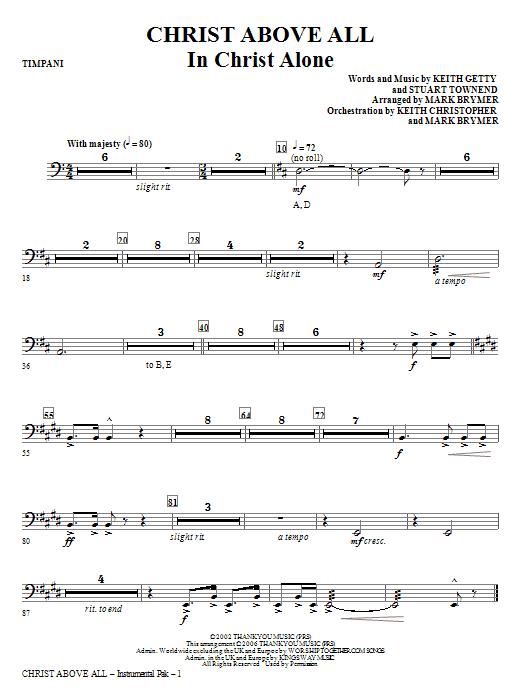 Christ Above All - Timpani Sheet Music