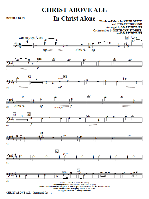 Christ Above All - Double Bass Sheet Music