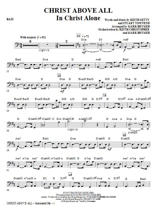 Christ Above All - Bass Sheet Music