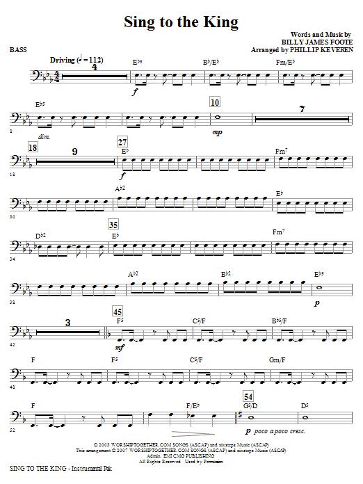 Sing To The King - Bass (Choir Instrumental Pak)