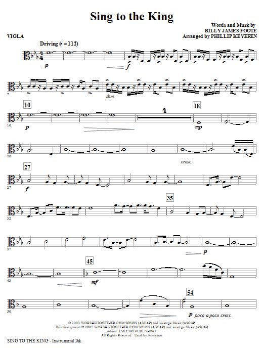Sing To The King - Viola Sheet Music