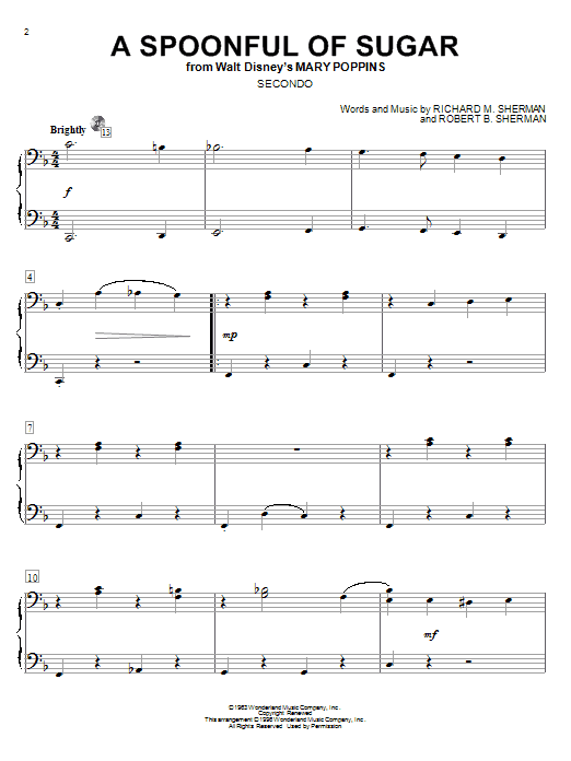 A Spoonful Of Sugar Sheet Music