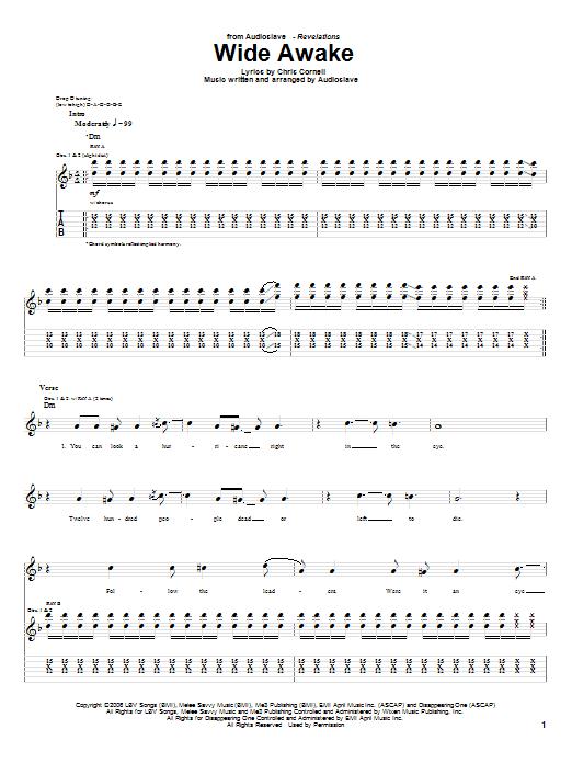 Wide awake guitar