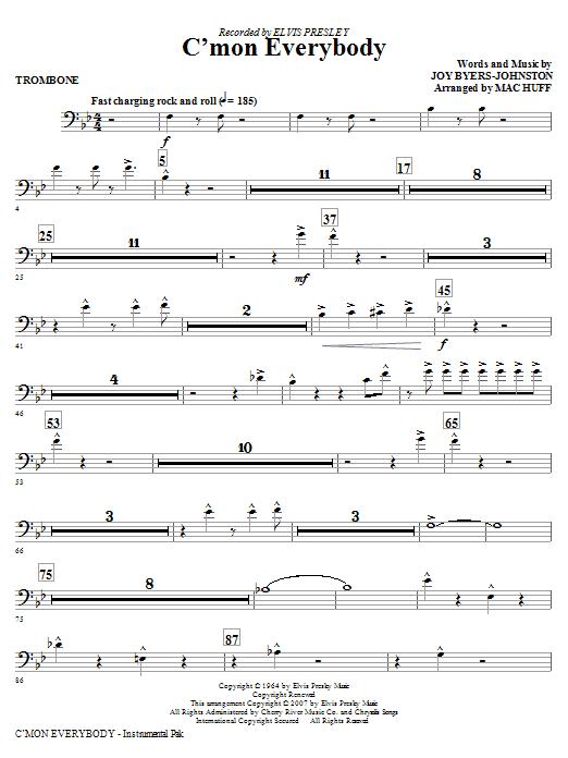 C'mon Everybody - Trombone Sheet Music