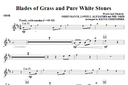 Blades Of Grass And Pure White Stones - Oboe Sheet Music