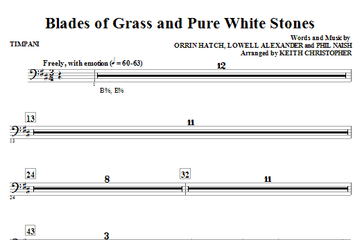 Blades Of Grass And Pure White Stones - Timpani (Choir Instrumental Pak)