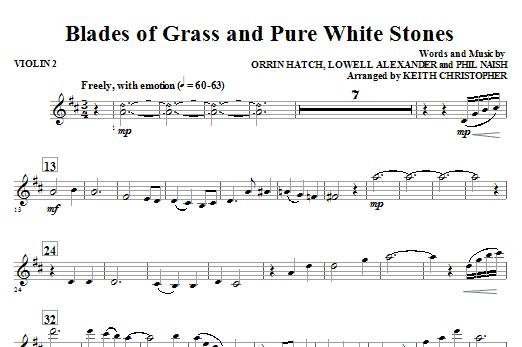 Blades Of Grass And Pure White Stones - Violin 2 (Choir Instrumental Pak)