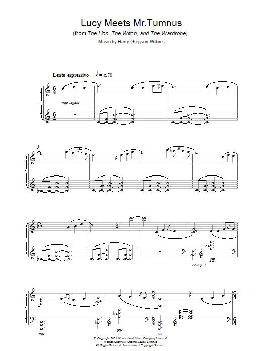 Lucy Meets Mr. Tumnus (Piano Solo)