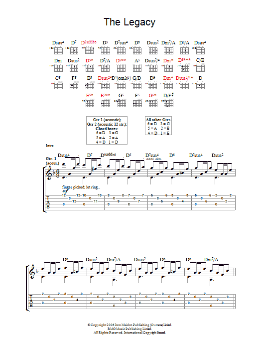 The Legacy (Guitar Tab)