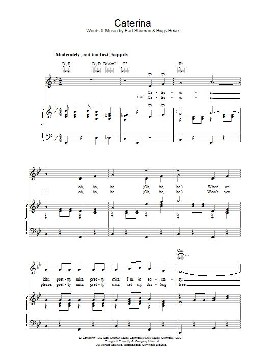 Caterina Sheet Music