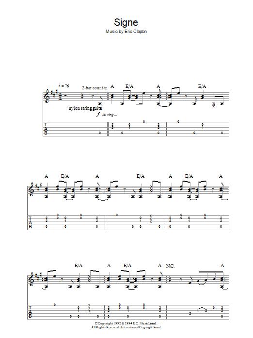 Signe (Guitar Tab)