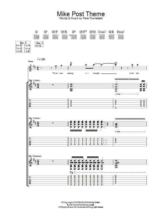 Mike Post Theme (Guitar Tab)