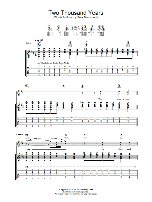 Two Thousand Years by The Who - Guitar Tab - Guitar Instructor