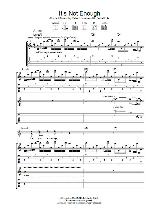 It's Not Enough (Guitar Tab)